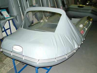 "Тент носовой с окном для лодки пвх ""Сапсан 360-380"", ""Касатка 365\385 S"""